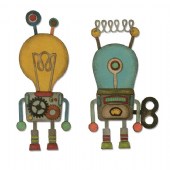 Sizzix Tim Holtz - Thinlits Die Set 14pk - Robotic - 664162